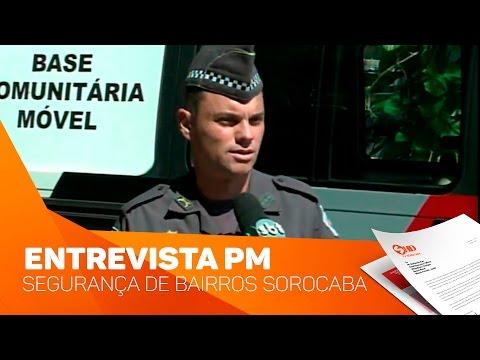 Entrevista Polícia Militar sobre segurança em bairros - TV SOROCABA/SBT
