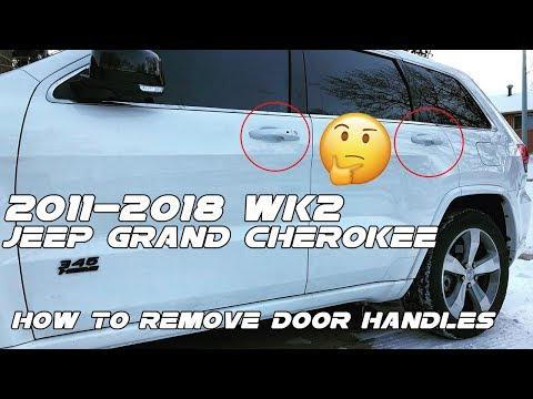 2011-2018 Jeep Grand Cherokee: How to remove chrome door handles