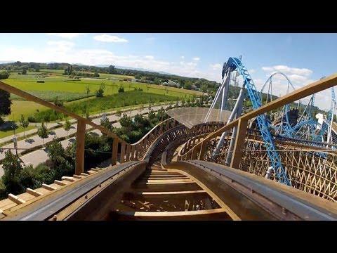 Wodan Timburcoaster Complete Roller Coaster POV Europa Park Germany
