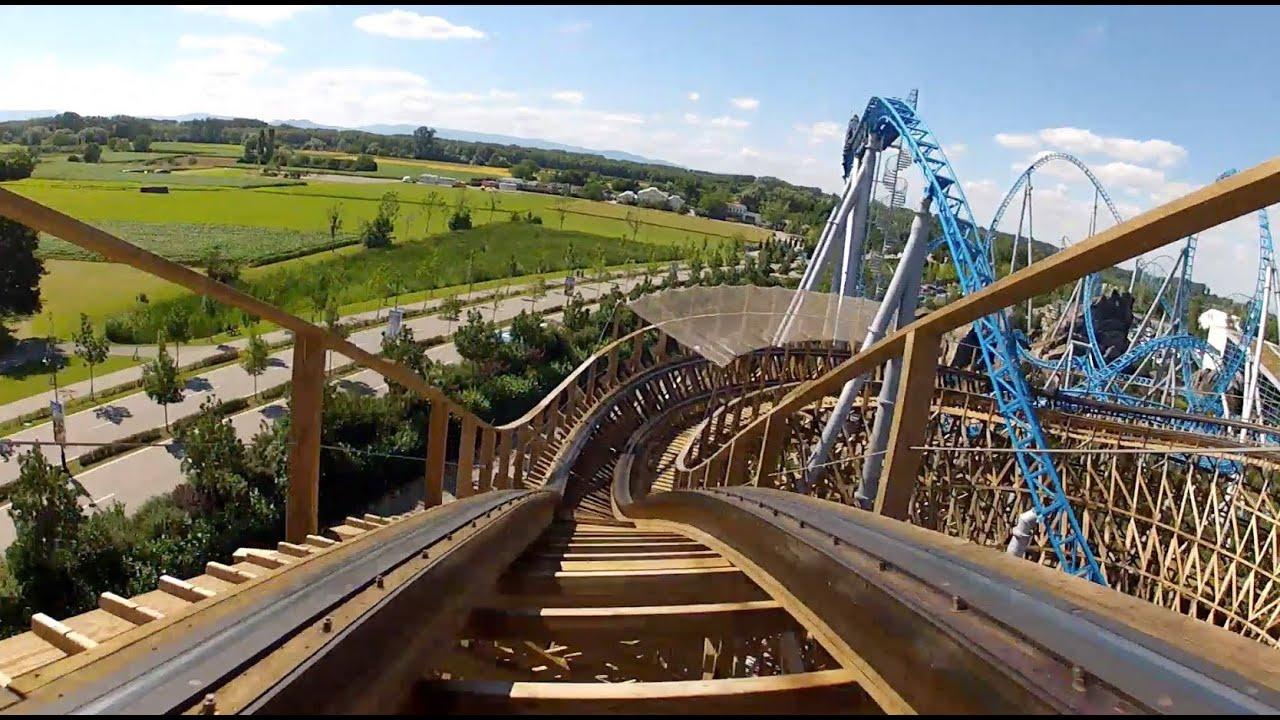 Wodan Timburcoaster Complete Roller Coaster Pov Europa