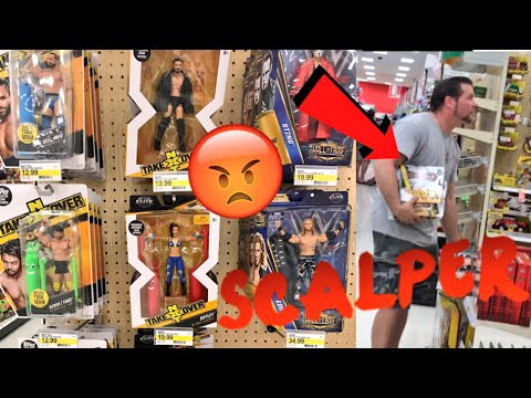 SCALPER CAUGHT BUYING EVERY NXT FIGURE EVER IN TARGET!