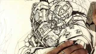 PACIFIC RIM INSPIRED MECHA - TIMELAPSE SPEED DRAWING