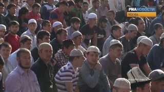 Тысячи мусульман в Москве отметили Ураза-байрам