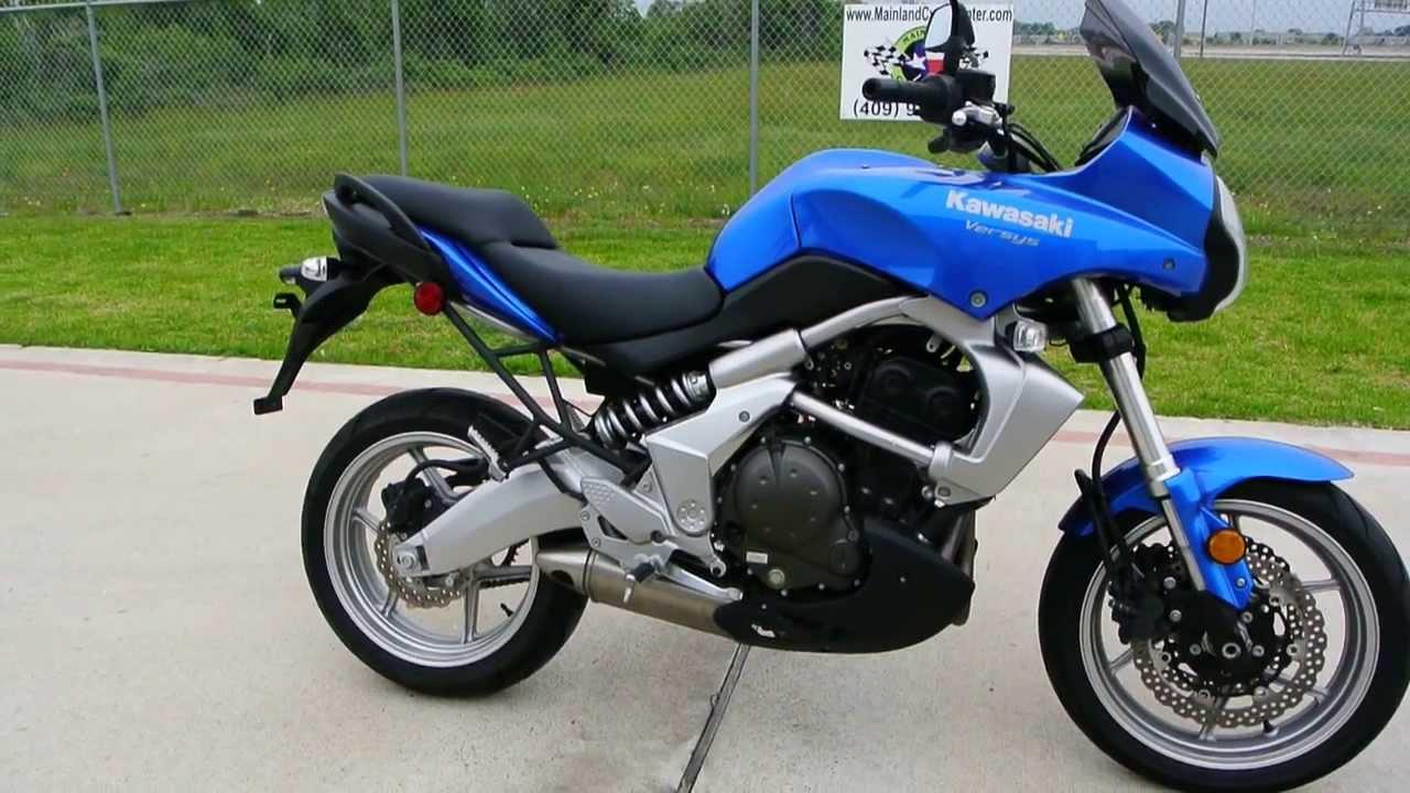 $4,999: 2009 Kawasaki Versys 650 in Blue - YouTube