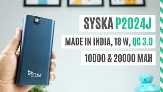 Syska Power Bank Review (P2024J), Made in India Fast Charging Power Bank 20000 & 10000 mAH, Giveaway