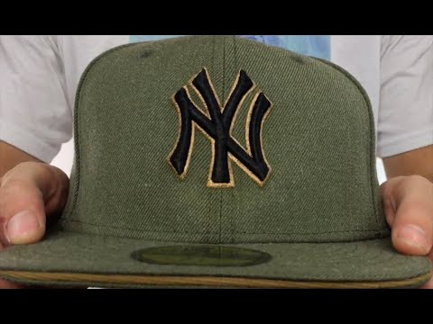 Yankees  HEATHER SLICE  Olive Fitted Hat by New Era - YouTube a4de5e6c69a