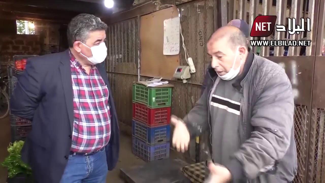 شاهد ما جرى بين مدير التجارة للبليدة وتجار الجملة في سوق بوفاريك !!
