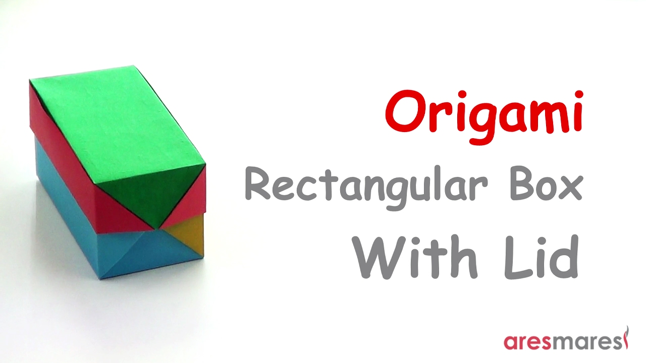 Origami Rectangular Box With Lid Easy