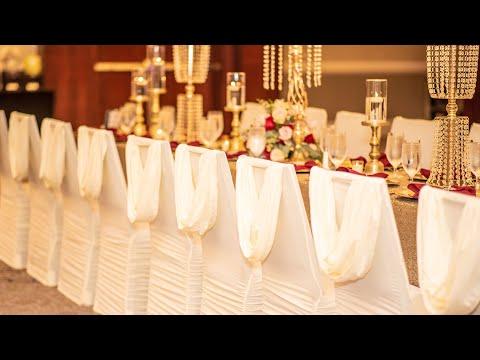 GLAM WEDDING IDEAS| DECORATE WITH ME| BACKDROP, DECOR & CENTERPIECES