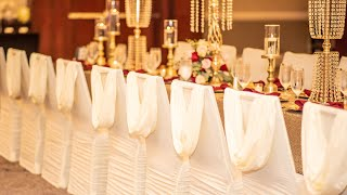 GLAM WEDDING IDEAS| DECORATE WITH ME| BACKDROP, DECOR & CENTERPIECES