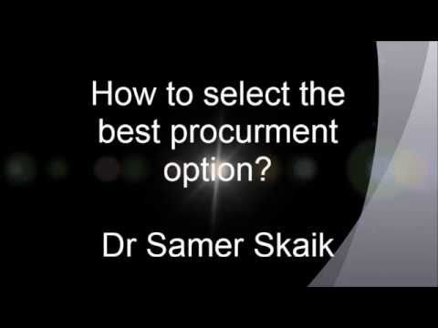 How to select the best procurement option for the project?