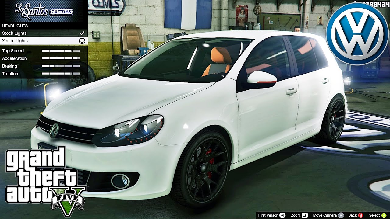 Volkswagen Golf Mk6 GTA V Car Mod Tuning Soley911