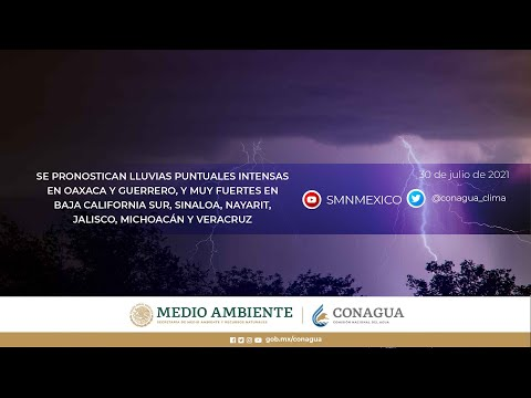 Pronóstico 30 de julio de 2021 08:00 horas