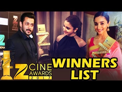 Zee Cine Awards 2017 - FULL WINNERS LIST - Salman Khan, Anushka Sharma, Alia Bhatt