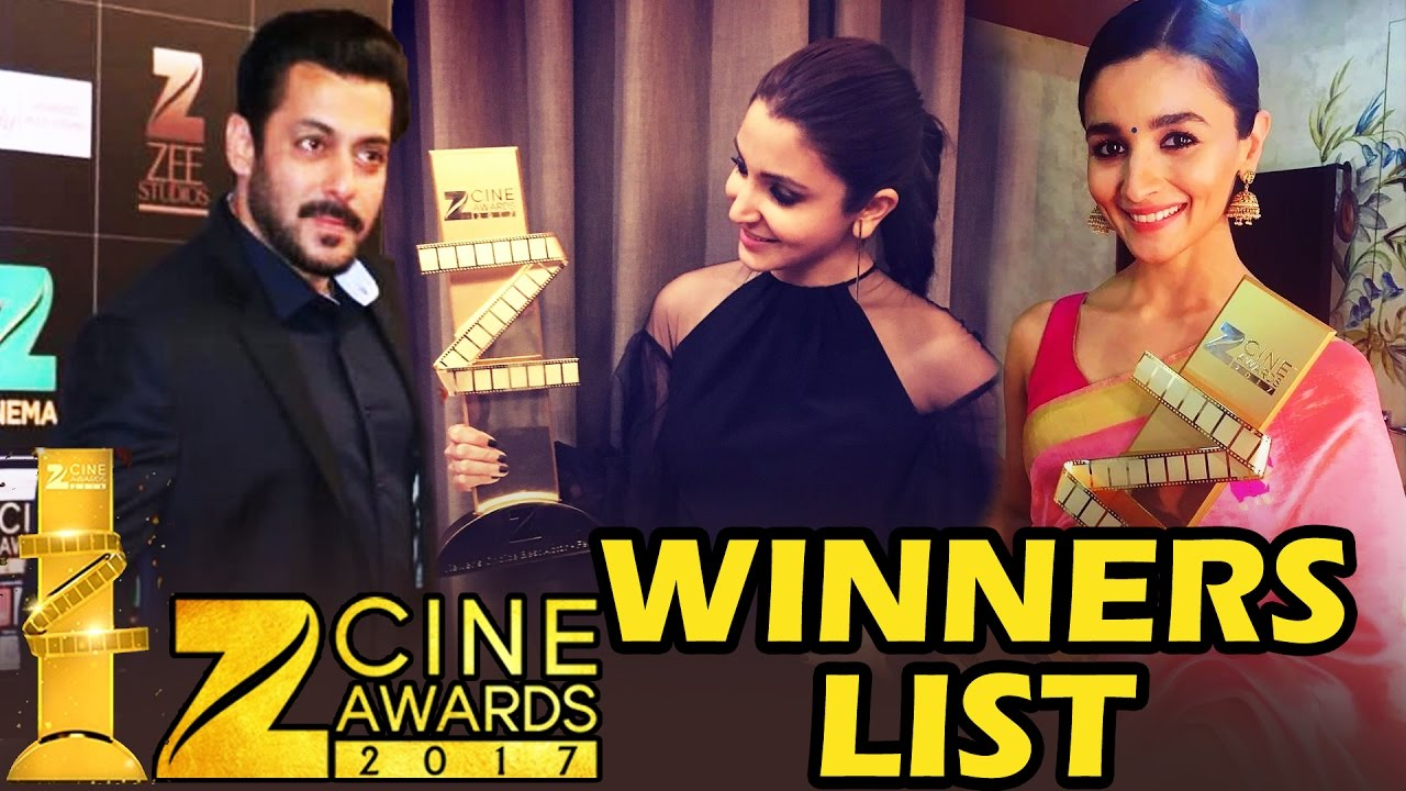 Zee Cine Awards 2017 - FULL WINNERS LIST - Salman Khan, Anushka Sharma,  Alia Bhatt