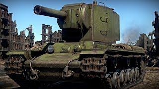 КВ-2 1940 КАК КОЛОТЬ ОРЕХИ | Лучший бой War Thunder #132