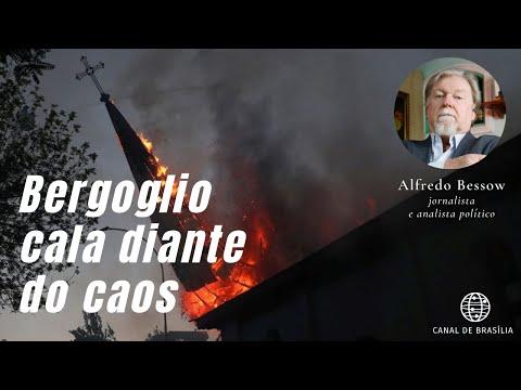 Vândalos incendeiam igrejas no Chile e Bergoglio continua calado