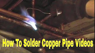 How To  Solder Copper Pipe And Repipe Home Part 2 Of 14 In Hd