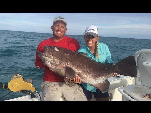 HUGE Grouper And Swordfish In The Florida Keys