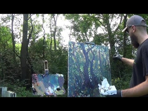Kyle Buckland Plein Air Landscape Painting Demo Intermediate #1 Art Demonstration