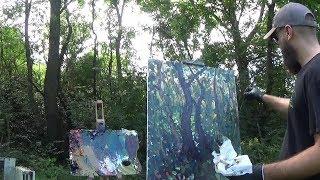 Kyle Buckland Plein Air Landscape Painting Demo Intermediate #1 Art Demonstration