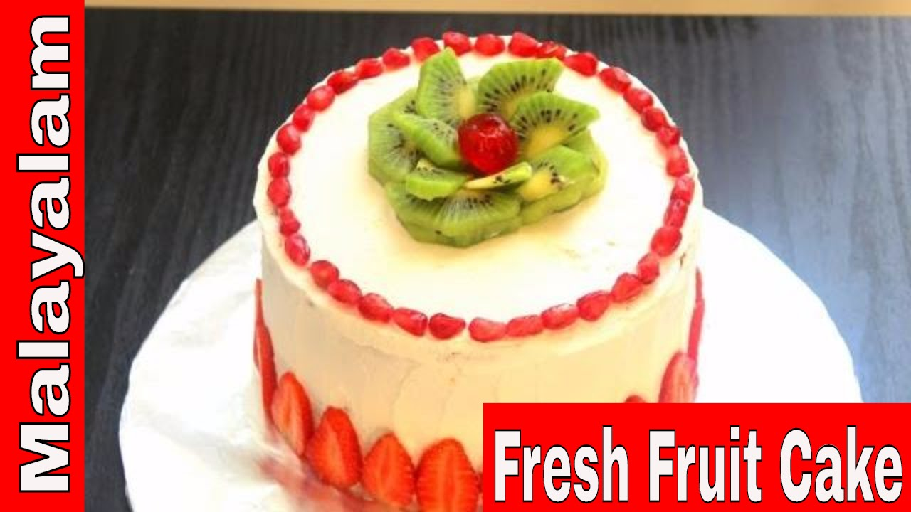 Cake Recipes In Malayalam Video: WhippedCream Frosting