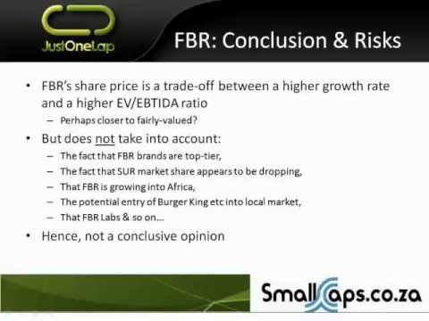 Valuations: EV/EBITDA Model (case study FBR)
