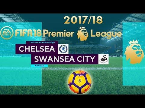 FIFA 18 Chelsea vs Swansea City | Premier League 2017/18 | PS4 Full Match