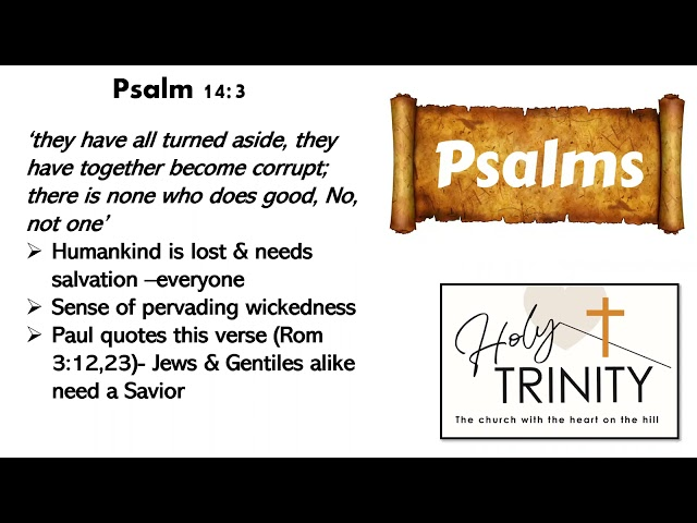 Bible Study on the Book of Psalms: Songs of the heart: session 3
