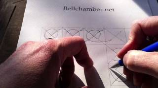 How to Draw Celtic Knots 7 - Border Triskele Durrow - 1/2