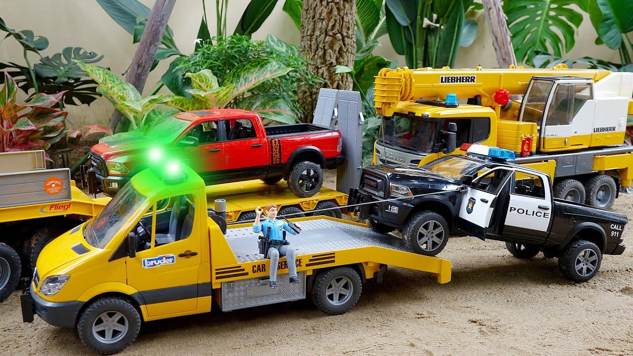 중장비 트럭놀이 구출놀이 자동차 장난감 모래놀이 Rescue Truck Toys Activity