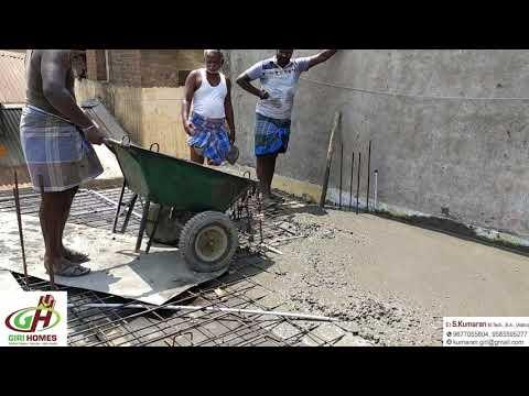 550sq.Ft  10lakh budget   Amazing Roof work Progress Full Video by GIRI Homes Kumbakonam