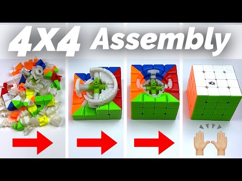 How to Assemble a 4x4 Rubik's Cube | Full tutorial