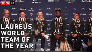 The Springboks won Team of the Year at the 2020 Laureus World Sports Awards in Berlin, Germany on Monday evening. During the winners' press conference, the team spoke about what it was like for them in the second half of the 2019 world cup and the significance of the award to the pride of the country.   #Laureus20 #Springboks #SiyaKolisi