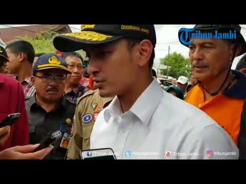 Gubernur Tinjau Lokasi Kebakaran di Kuala Tungkal