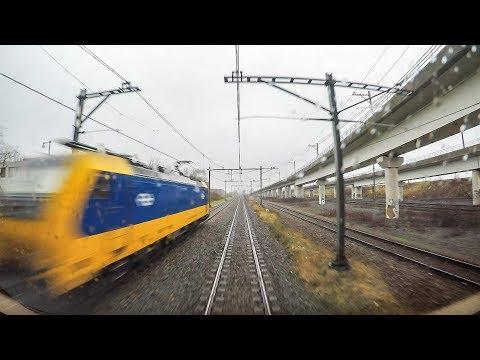 4K Cab Ride NL Amsterdam CS – Haarlem – Leiden CS – Den Haag CS / IC 2159 / 04-01-2018