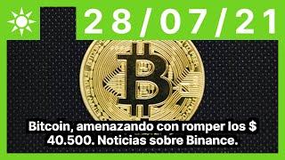 Bitcoin, amenazando con romper los $ 40.500. Noticias sobre Binance.
