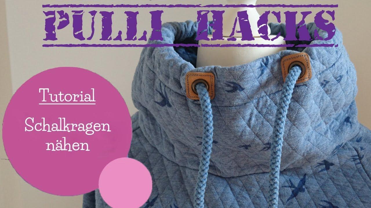 Schalkragen nähen | Schnittmuster erstellen | Pulli Hacks | DIY Nähanleitung | mommymade