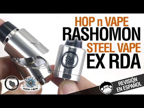 Rashomon RDA by Hop N Vape / EX RDA by Steel Vape - ¿Pacman vapea? / revisión