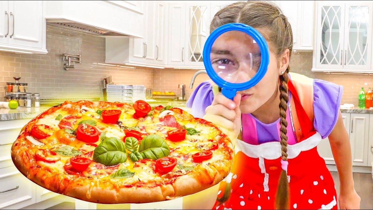 Nastya y el desafío de la pizza para Artem