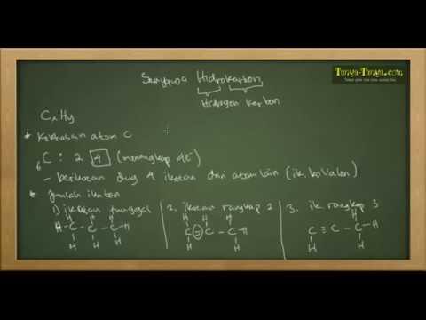 Belajar Kimia : Materi dan Contoh Soal Senyawa Hidrokarbon Part 1