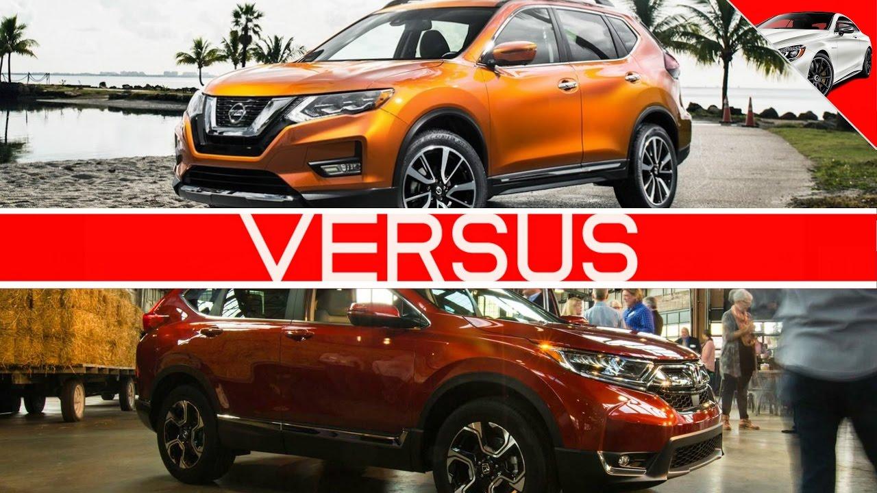 Rogue Vs Crv >> 2017 Honda Crv Vs 2017 Nissan Rogue Crossover Battle