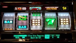 Dynamic 7 (Konami) Slot Machine Free Spins Bonus Game