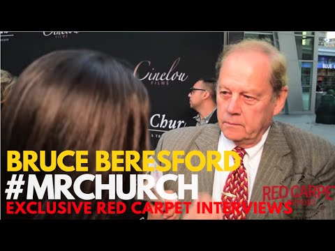 Director, Bruce Beresford interviewed at the Red Carpet Premiere of Mr. Church #MrChurch