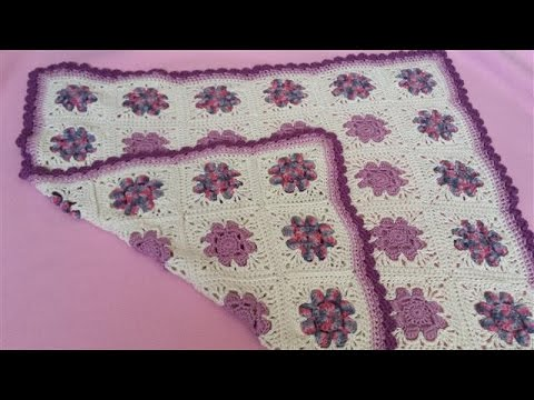 Daisy Granny Square Blanket Part 1 Crochet Tutorial