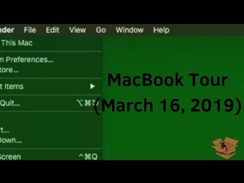 MacBook Tour (March 16, 2019)