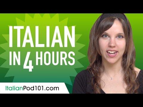 Learn Italian in 4 Hours - ALL the Italian Basics You Need