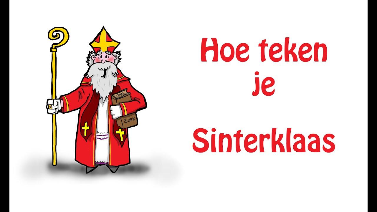 Hoe Teken Je Sinterklaas Youtube