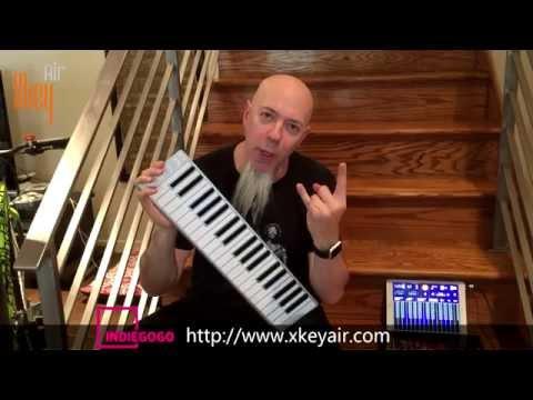 CME Xkey Air unboxing by Jordan Rudess