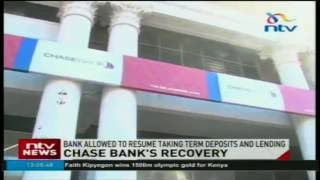 Chase Bank allowed to resume taking term deposits and lending